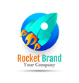 Abstract Rocket web Icons logo design Template vector image