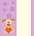 background with cartoon dog vector image