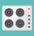electric hot plate flat icon electrical stove vector image