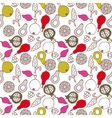Fruit doodle hand drawn seamless pattern vector image