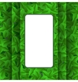 Green Leaves Pattern Summer Leaves Background vector image