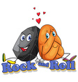 Rock and roll concept vector image