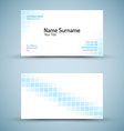 Set of modern business card template vector image