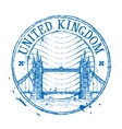 United Kingdom logo design template Shabby vector image