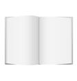 White Open Book vector image