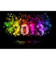 2013 colorful background vector image vector image