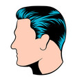 mens hairstyle icon icon cartoon vector image