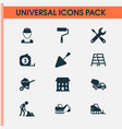 architecture icons set collection of home vector image