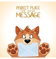 dog message vector image