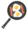 fried eggs in a frying pan 03 vector image vector image