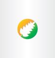half autumn and half spring leaf icon vector image