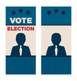Man President Election Brochure Covers vector image