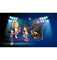 Kids playing music on stage vector image vector image