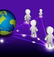 global network communication vector image vector image