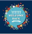 Back to School social bubble education global vector image