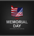 veterans day with usa flag vector image