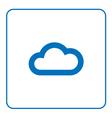Cloud icon Web cartoon sign vector image vector image