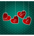Valentines day heart backgroung vector image vector image