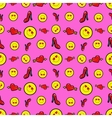 Hearts and Womens Shoes Seamless Pattern vector image