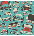 toys cars traffic print vector image vector image