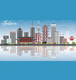 foshan skyline with gray buildings blue sky and vector image