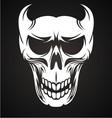 White Devil Skulls vector image
