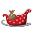 Christmas sledge isolated on white Background vector image