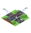 Road infographics with highways with city vector image