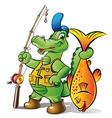 fisher alligator vector image