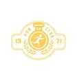 Run Club Yellow Label Design vector image vector image