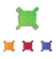 No burger sign Colorfull applique icons set vector image