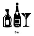 bar icon simple black style vector image