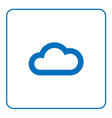 Cloud icon Web cartoon sign vector image