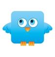 cute bird comic cartoon vector image