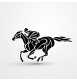 Horse race Equestrian sport Silhouette of racing vector image