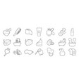 personal hygiene icon set outline style vector image