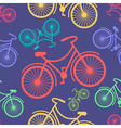 Retro hipster styled different colored bycicles vector image