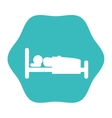 silhouette human sleeping icon vector image