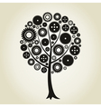 Tree a gear wheel vector image