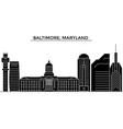 usa baltimore maryland architecture city vector image