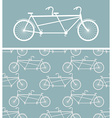 Bike seamless pattern bicycle Tandem texture vector image