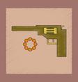 flat shading style icon kids pistol vector image