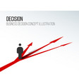 decision concept vector image