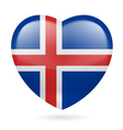 Heart icon of Iceland vector image vector image