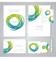Template for Business artworks Bio style vector image vector image