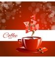 Espresso coffe red coffee vector image