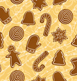 Seamless Christmas holiday gingerbread cookies vector image vector image