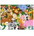 Cartoon animals background vector image