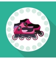 Roller skating design vector image