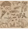 Animals - hand drawn pack vector image